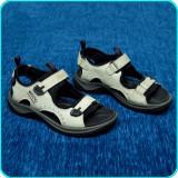 DE FIRMA → Sandale de calitate, piele, comode, aerisite, ECCO → baieti | nr. 37, Alb