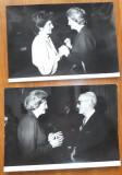 2 fotografii cu Mia Groza si Clea si Enrique Lupiz la ONU ,carte vizita ,anii 70