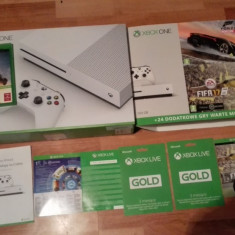 Xbox one 500gb fifa 2017+horz horizon,xbox live gold