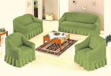 Set huse canapea 3 locuri si 2 fotolii - 3.1.1 - Verde