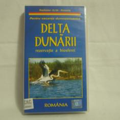 Vand caseta video Delta Dunării-Rezervatie A Biosferei, originală, cu holograma - Film documentare, Romana