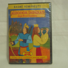 Vand dvd Aleodor Impărat-Basme Romănești, sigilat, original, cu holograma - Film animatie, Romana