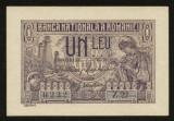 X132 ROMANIA 1 LEU 1915 VICEGUVERNATOR  UNC NECIRCULATA