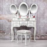 SEA28 - Set Masa Alb Antichizat toaleta masuta cosmetica machiaj oglinda scaun