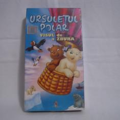 Vand caseta video Ursuletul Polar-Eliberarea Lui Nanouk, originala, VHS - Film animatie, Romana