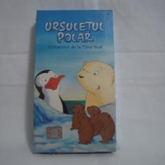 Vand caseta video Ursuletul Polar-Vizitatorul de la Polul Sud, originala, VHS - Film animatie, Romana