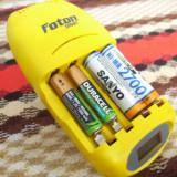 Incarcator Foton cu 8 acumulatori inclusi 4xAAA si 4xAA - Baterie Aparat foto