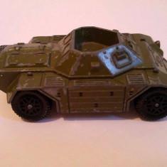 Masinuta Hot Wheels macheta metal tanc Dinky Toys Ferret Scout Car, Made in England, 8cm