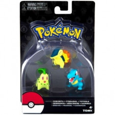 Pokémon: Chikorita, Cyndaquil, Totodile 5 cm - Figurina Desene animate