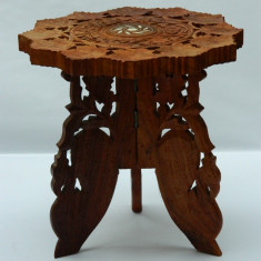Lemn de trandafir - sculptura - masuta cafea