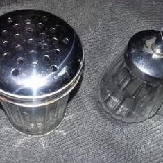 Recipient sticla/inox tip dozator pt.CONDIMENTE,dozator sticla/inox  ZAHAR,T.GRA