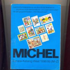 Catalog Michel WEST 1998/1999, lista tarilor M-Z, 1600 file, poze alb-negru.