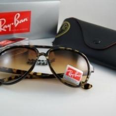Ochelari Ray Ban Cats 4125 710/51 - Ochelari de soare Ray Ban, Unisex, Maro, Ochi de pisica, Plastic, Protectie UV 100%