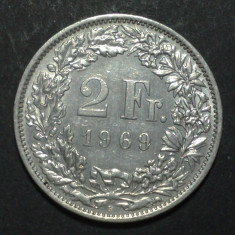 Elvetia 2 francs 1969 aUNC, Europa