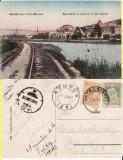 Vatra Dornei (Bucovina, Suceava)- Vedere -cale ferata, rara, Circulata, Printata