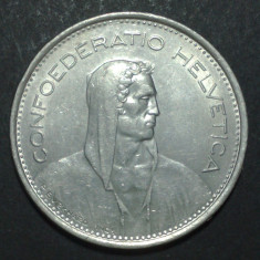 Elvetia 5 francs 1968 1 aUNC, Europa
