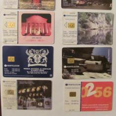 PVM - Lot 10 cartele telefonice Romania (8 x ROMTELECOM) + straine (x2) diferite - lot colectie