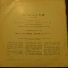 Disc vinil  RICHTER SVIATOSLAV - MOZART/PROKOFIEV            USSR 33 D 027305-06
