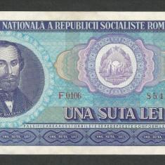 ROMANIA 100 LEI 1966 [02] a UNC, aproape necirculata - Bancnota romaneasca