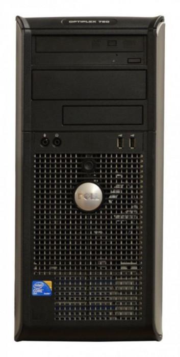 Calculator Dell Optiplex 760 Tower, Intel Core 2 Duo E8400 3.0 GHz, 2 GB DDR2, 250 GB HDD SATA, DVDRW, Windows 7 Professional foto mare