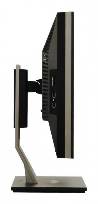Monitor 24 inch LED, IPS, DELL U2410, Black & Grey, Buton Power Grad B foto mare