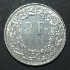 Elvetia 2 francs 1968 2 aUNC, Europa