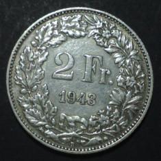 Elvetia 2 francs 1943 Argint, Europa