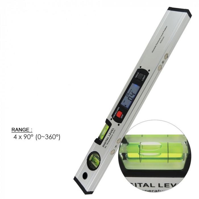Nivela boloboc electronic afisaj digital 360° si magneti, Gain Express