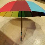 Umbrela ploaie diametru 82cm - Umbrela Dama, Culoare: Multicolor