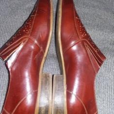 Pantofi barbati PIELE marimea 26, 5 cm.pantofi superbi model deosebit, T.GRATUIT, Marime: 42, Culoare: Maro