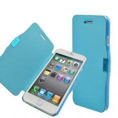 Husa Flip Cover, Slim Flip, Albastru, iPhone 4/4S