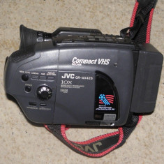 Camera videoJVC GR-AX42s VHSC cu husa, incarcator, acumulatori