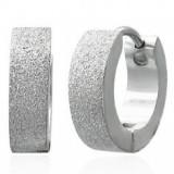 Cercei șlefuiți, cu arc, din oțel chirurgical, culoare argintie