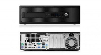 Calculator HP ProDesk 600 G1 Desktop, Intel Core i3 Gen 4 4130 3.4 GHz, 4 GB DDR3, 250 GB HDD SATA, DVDRW foto