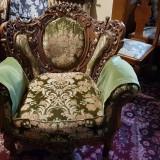 Garnitura salon stil neo-baroc, lemn masiv