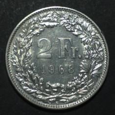 Elvetia 2 francs 1968 1 aUNC, Europa