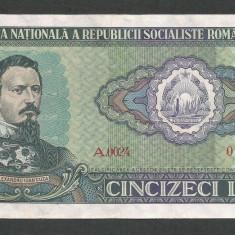 ROMANIA 50 LEI 1966 [3] P-96a, XF+++ - Bancnota romaneasca