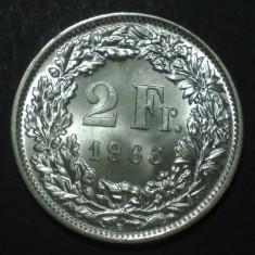 Elvetia 2 francs 1965 UNC Argint, Europa