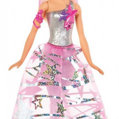 Papusa Barbie Star Light in rochie galactica