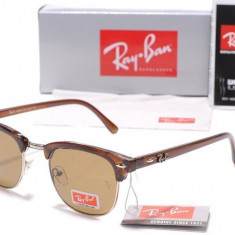 Ochelari Ray Ban ClubMaster 3016 Maro - Ochelari de soare Ray Ban, Unisex, Fluture, Protectie UV 100%