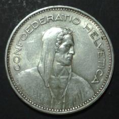 Elvetia 5 francs 1965 Argint, Europa