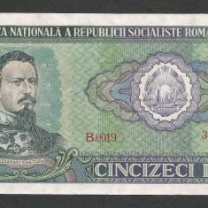ROMANIA 50 LEI 1966 [5] P-96a, XF+++ - Bancnota romaneasca