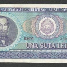 ROMANIA 100 LEI 1966 [6] XF++ / a UNC, aproape necirculata - Bancnota romaneasca