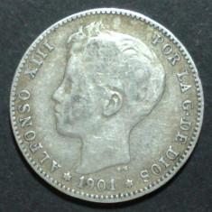 Spania 1 pesetas 1901 Argint, Europa