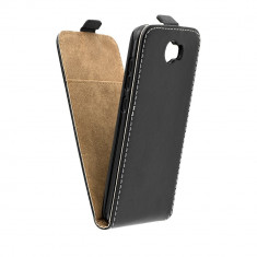 Husa Flip Cover, Flexi Slim, Negru, Huawei Y5-2/Compact Y6-2 Compact - Husa Telefon, Silicon, Cu clapeta