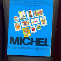 Catalog Michel WEST 1998/1999, lista tarilor A-L, 1820 file, poze alb-negru.