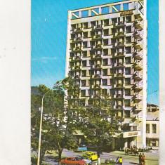 Bnk cp Campulung Moldovenesc - Hotel Zimbrul - circulata- marca fixa - Carte Postala Bucovina dupa 1918, Printata