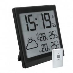 Statie meteorologica, emitator extern, ceas integrat, alarma, Home - Ceas led