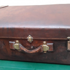 Valiza Vintage interbelica Johann Scholz din piele
