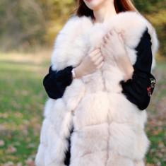 Vesta din blana naturala de vulpe - Vesta dama